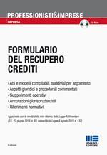Formulario del recupero crediti. Con CD-ROM