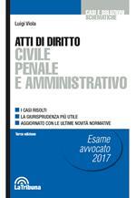 Atti di diritto civile penale e amministrativo