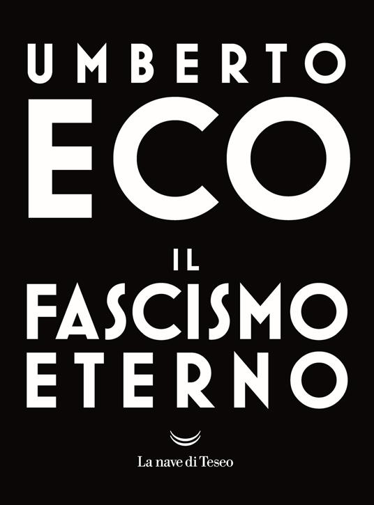 Il fascismo eterno - Umberto Eco - copertina