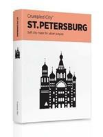 Mappa Crumpled City Map San Pietroburgo. St. Petersburg