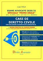 Esame avvocato 2020-21. Casi di diritto civile. Con soluzioni schematiche dimostrate