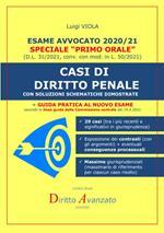Esame avvocato 2020-21. Casi di diritto penale. Con soluzioni schematiche dimostrate