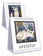 Calendario Akena 2022, da tavolo, Gatteria